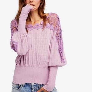 NEW Free People Love Lace Sweater